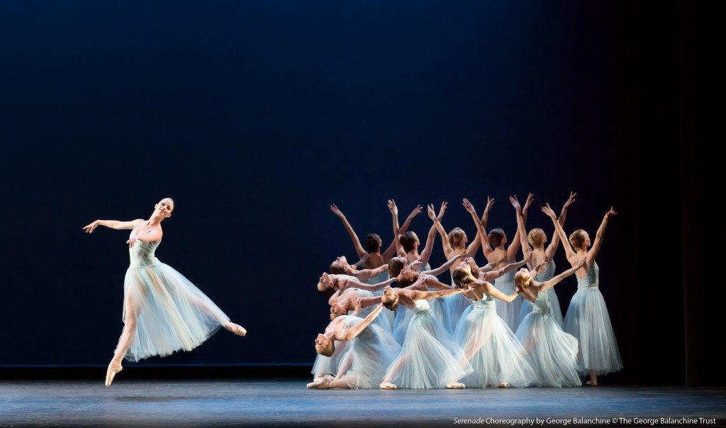Photo Credit: Serenade Choreography by George Balanchine ©The George Balanchine Trust. Photo by Virginia Trudeau.